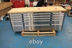 Crytec 72 Stainless Steel 15 Drawer Work Bench Tool Box Cabinet Transit Damage