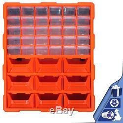 DIY Workshop 39 Drawer Multi Unit Double Storage Cabinet Tools Organiser Case