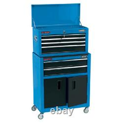Draper 19563 24 Combined Roller Cabinet Tool Top Box Storage Chest 6 Drawer