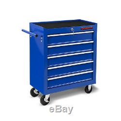 EBERTH Tool cabinet cart wheel trolley tools tray ball bearing slides 5 drawer