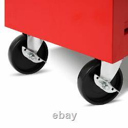 EBERTH Tool cabinet cart wheel trolley tools tray ball bearing slides 7 drawer