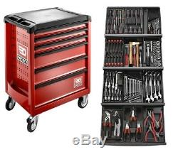 Facom 129 Pce Tool Kit In Module Trays with 6 Drawer Roller Cabinet