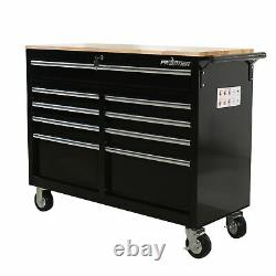 Frontier 46 in. 9-Drawer Mobile Workbench, tool chest, tool cabinet with wooden