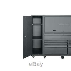 HUSKY 10 Drawer Tool Chest Cabinet Combo Storage Matte Black 80 Inch 3 Piece New