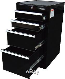 Halfords 4 Ball Bearing Drawer Side Cabinet Tool Storage 60kg Max Load Black