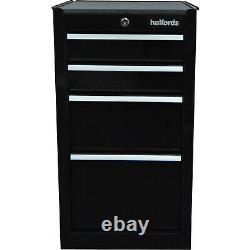 Halfords 4 drawer Tool cabinet Black Lockable