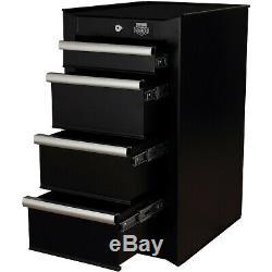 Halfords Advanced 4 Drawer Side Cabinet Tool Garage Storage Lockable 150kg Black
