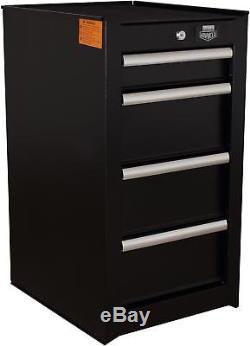 Halfords Advanced 4 Drawer Side Cabinet Tool Garage Storage Max Load 150kg Black