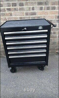 Halfords Advanced Tool Chest 6 Drawer Cabinet Black Wheels Lockable