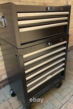 Halfords Advanced Tool Chest & Cabinet 3+6 Drawers BLACK RRP £525 Heavy Duty