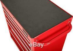 Halfords Ball Bearing 5 Drawer Cabinet Lockable Garage Tool Box Storage Red
