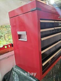 Halfords Professional 9 Drawer Top Chest Tool Box Cabinet Cab light use only