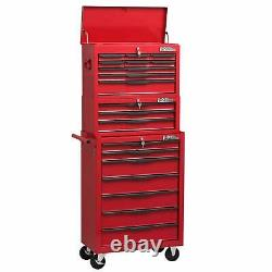 Heavy Duty 19 Drawer Tools Trolley Chest Combination Unit Cabinet