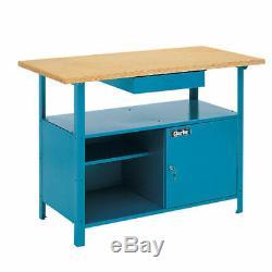 Heavy Duty Clarke workbench CWB1250 drawer & lockable tool cabinet box new
