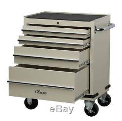 Hilka Classic 4 Drawer Tool Roller Cabinet Retro Tool Box smooth drawer sliders
