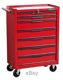 Hilka Mechanics Tool Trolley Garage Storage Chest Cabinet Ball Bearing 7 Drawers
