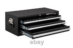 Hilka Tool Chest Black Metal New 3 Drawer Add On Tools Storage Box Cabinet Unit