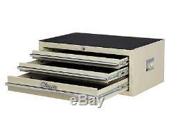 Hilka Tool Chest Metal Classic Car Cream 3 Drawer Storage Add On Cabinet Box