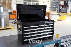 Hilka Tool Chest New 9 Drawer Black Metal Tools Chest Box Cabinet Storage Unit
