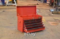 Hilka Tool Chest New Red 9 Drawer Metal Garage Tools Storage Box Cabinet Unit