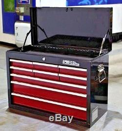 Hilka Tool Chest Red Black 9 Drawer Metal Garage Tools Storage Box