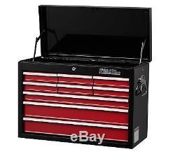 Hilka Tool Chest Red Black 9 Drawer Metal Garage Tools Storage Box Cabinet Unit