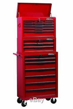 Hilka Tool Chest Trolley 19 Drawer Tools Storage Set Box Roll Cab Wheels Cabinet