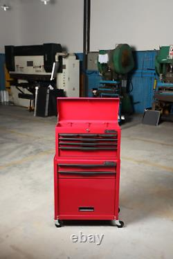 Hilka Tool Trolley Chest 8 Drawer Red Mobile Storage Roll Wheels Cabinet Box