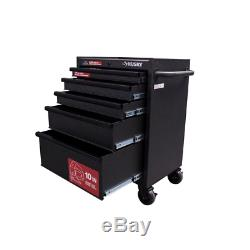 Husky 5-Drawer Rolling Cabinet Tool Box Chest in Textured Black 27 in. W