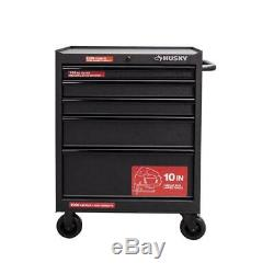 Husky Rolling Cabinet Tool Chest 27 in. W 5-Drawer Anti-Scratch Textured-Black