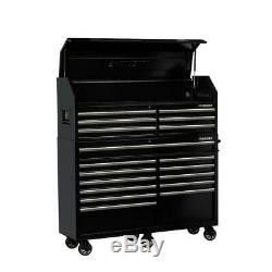 Husky Tool Chest Cabinet Combo 18 Drawer Garage Storage Mobile Black 61X18 In