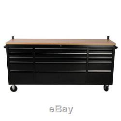 INDUSTRIAL 15 Draws Tool Box Chest Secure Cabinet Drawer Mobile Workbench 72inch
