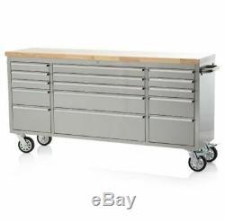 Industrial Work Bench Tool Box Roller Cabinet Workbench 15 Drawer Chest Storage