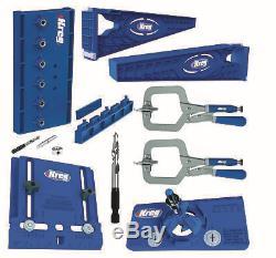 Kreg Tool Company Drawer Slide Jig with Cabinet Hardware Jig, Concealed Hinge