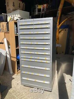 LISTA Tool Cabinet (large) 10 Roller Bearing Drawers Semi Refurbished