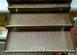 Large Metal 6-Drawer Storage Watchmaker Cabinet Bench Repair Tool Organizer