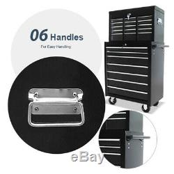 Large Workshop Pro Tool Chest Roller Box Cabinet of 16 Drawers 4 Castors NEW