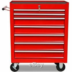 Lockable Workshop Tool Trolley Tool Storage Cabinet Garage with 1125 Tools Steel
