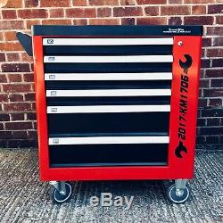 Locking Garage Tool Cabinet, Tools, Drawers and Side Door on Lockable Casters