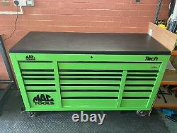 MAC Tools Tech Series 19 Drawer Triple Bank Roller Cabinet In EXTREME GREEN