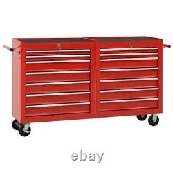 Metal Storage Tool Trolley Mobile Drawer Chest Cabinet Box Garage Workshop Cart