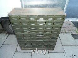 Mid-Century Industrial Metal 54 Drawers Filing/Engineer/Tool Cabinet