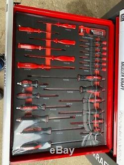 Muller Kraft 6 Drawer & Side Cabinet Locking Tool Trolley 245PCS