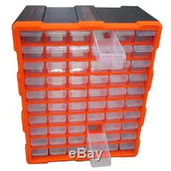 Multi Unit Double Storage 60 Drawer Cabinet Box Workshop Tool Organizer Case DIY