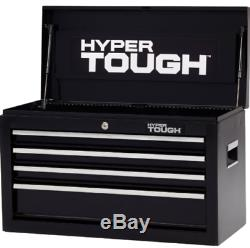 NEW Hyper Tough 26W 4 Drawer Ball Bearing Chest Tool Box Cabinet Mechanic