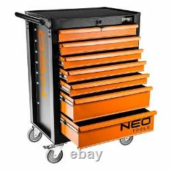 Neo Tools Metal Garage Mechanic Tool Chest Cabinet with 7 Drawers