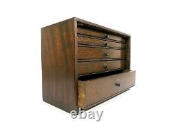 Neslein Engineers Toolmakers Wooden Cabinet Tool Chest 5 Drawers