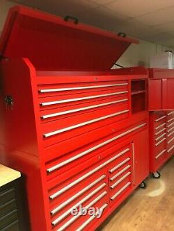 New 72 Inch Toolchest 15 Drawers Hammered Finished In Red Last 1