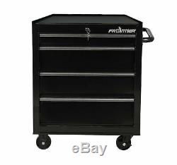 New Quality Brand Lockable 26-inch 4 Drawer Bottom Chest Tool Cabinet Black