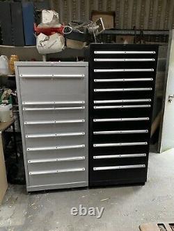 Original 8 Drawer Silver LISTA Tool Cabinet Part Refurbished